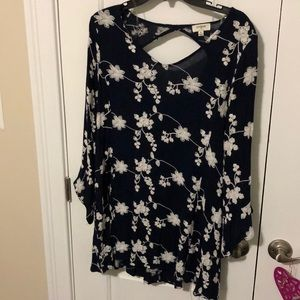 Used navy tunic dress